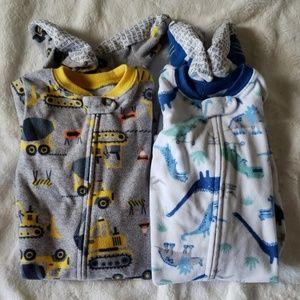 Carter's Fleece Pajamas - size 12M